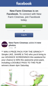 New Farm Cinemas – Win a Prize Pack for The Grinch Simple Like