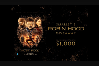 Nova FM Smallzy's Robin Hood for your chance to – Win One (1) Prize Each (prize valued at $5,000)