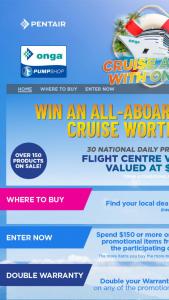 Onga Pump Shop – Win a Prize