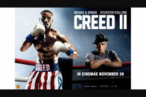 Perth Now – Win a Double Pass to Creed Ii closes 12 Noon