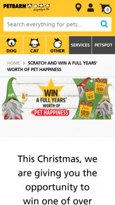 PeTBarn Membership Req – Spend $29 to Scratch & – Win Promotion Terms and Conditions (prize valued at $1,920)