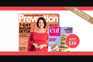 Prevention Mag – Win a Prize Pack Valued at Over $290 (prize valued at $290)