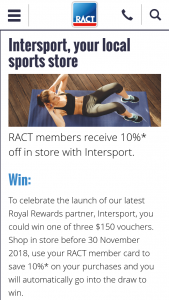 RACT – Win One of Three $150 Vouchers (prize valued at $450)