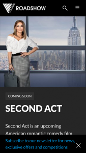 Roadshow Entertainment – Win One of 20 In-Season Double Passes to See Second Act (prize valued at $880)