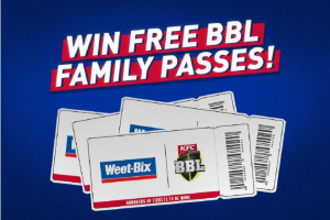 Sanitarium – Win a Big Bash League Family Pass (prize valued at $47,360)