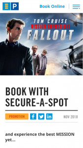 Secure Parking Book a secure-a-spot to – Win a $3366 Entertainment Pack (prize valued at $2,299)