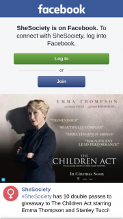 She Society – to The Children Act Starring Emma Thompson and Stanley Tucci