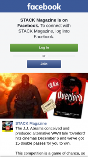 Stack Magazine – Win 15 Passes to See Overlord