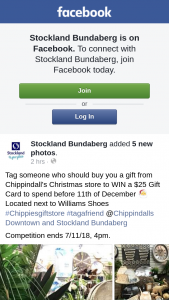 Stockland Bundaberg – Win a $25 Gift Card to Spend Before 11th of December &#127877 Located Next to Williams Shoes #chippiesgiftstore #tagafriend @chippindalls Downtown and Stockland Bundaberg (prize valued at $25)