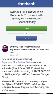 Sydney Film Festival – Win a Double Pass to The Screening and Post-Film Q&a of River's Edge on 20 Nov By Telling Us The Most Tragic Or HearTBreaking Film You've Seen