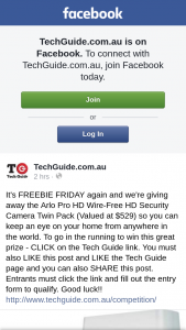 TechGuide – Win this Great Prize (prize valued at $529)
