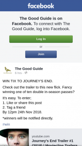 The Good Guide – Win Ticket to Journey's End