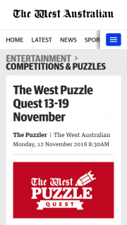 The West Puzzle Quest 13 – Competition (prize valued at $1,000)