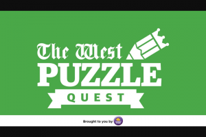 The West Puzzle Quest 30 October – Competition