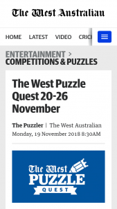 The West Puzzle Quest 20 – Will Receive an Ikea Gift Card to The Value of $200 (prize valued at $1,000)