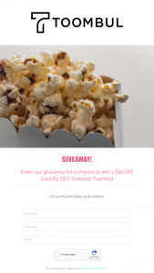 Toombul Shopping Centre – Win a $30 Gift Card for Bcc Cinemas Toombul (prize valued at $30)