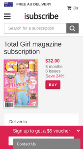Total Girl Mag – Win a Prize Pack Valued at Over $330 (prize valued at $339)