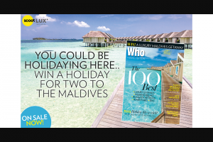 Who Travel – Win The Prize (prize valued at $12,883)