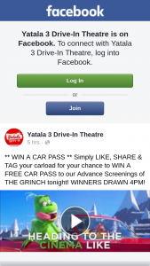 Yatala 3 Drive-in Theatre – Win a Car Pass Simply Like