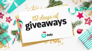 10 Daily – 12 Days of Giveaways – Win 1 of 12 prizes daily