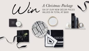 Coco Republic – Win 1 of 5 Coco Republic Decor gift packs valued at $600 each