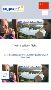 Balloon Aloft Canberra – Win a Balloon Flight