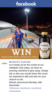Bickford's Australia – Win a $50 Visa Card to Use Towards Your Phone Bill this Christmas Valued at $50.00