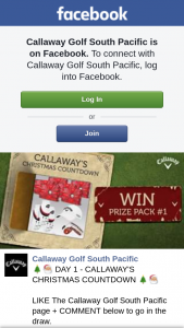 Callaway Golf South Pacific Christmas Countdown – Win this Awesome Prize Simply 1
