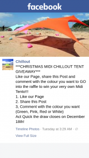 Chillout – Win Your Very Own Midi Tento