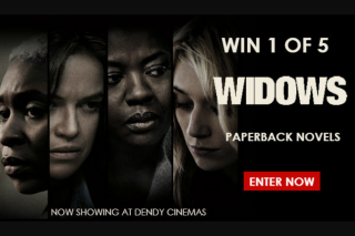 Dendy – Win 1 of 5 'widows' Paperback Novels