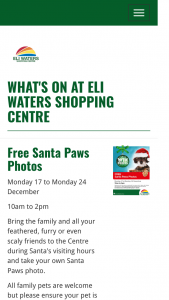 Eli Waters SC Qld – a $50 Eli Waters Eftpos Gift Card (prize valued at $100)