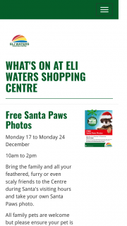 Eli Waters SC Qld – a $50 Eli Waters Eftpos Gift Card (prize valued at