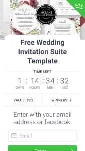 Evie – Win Your Choice of Two Beautiful Burgundy Wedding Invitation Suites (prize valued at $46)