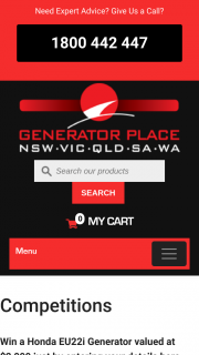 Generator Place – Win a Honda Generator From The Generator Place (prize valued at $2,099)
