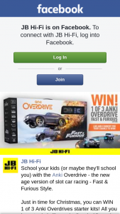 JB HiFi – Win 1 of 3 Anki Overdrives Starter Kits (prize valued at $199)