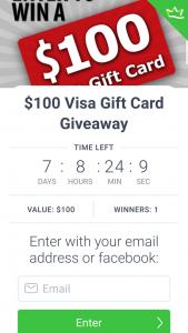 Kallie 4realz – Win a $100 Visa Giftcard (prize valued at $100)
