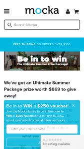 Mocka Australia – Win The Ultimate Summer Prize Package With Mocka (prize valued at $869)