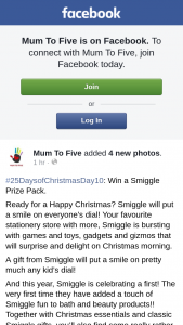 Mum to Five – Will Be Notified on this Post Within 72 Hours and Has 48 Hours to Respond Via Post Comment Or Pm Or a New Will Be (prize valued at $119.8)