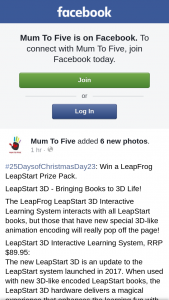 Mum to Five – Will Be Notified on this Post Within 72 Hours and Has 48 Hours to Respond Via Post Comment Or Pm Or a New Will Be (prize valued at $149.8)