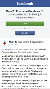 Mum to Five – Win The Ultimate Outdoor Gadget Pack Thanks to Laser (prize valued at $154.9)