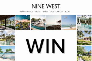 Nine West and Club Med – Win The Ultimate Island Escape No Travel (prize valued at $8,000)