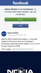 Nokia Mobile – Win a Brand New Nokia 7.1 Now With Android 9 Pie Just In Time for Christmas (prize valued at $499)