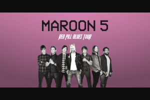 Optus perks customers only – Win 4 Tickets to Maroon 5