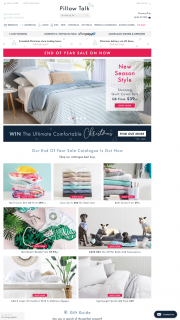Pillowtalk – Win The Ultimate Comfortable Christmas With Pillow Talk (prize valued at $1,000)