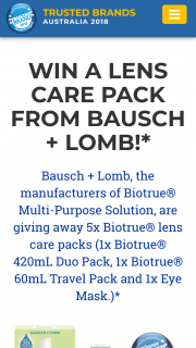 Readers Digest – Win a Lens Care Pack From Bausch Lomb