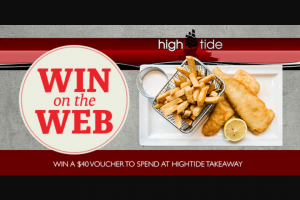 Seafmtas – Win a $40 Hightide Takeaway Voucher (prize valued at $40)