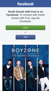 South Aussie With Cosi – Tickets to See Boyzone Live In Concert??