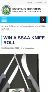 Sporting Shooters Aust – Win a Ssaa Knife Roll (prize valued at $44.95)