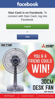 Stan Cash – Win this Awesome Mitsubishi Desk Fan Worth $89