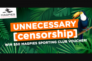 Star1019 Mackay – Win a $50 Magpies Sporting Club Voucher (prize valued at $50)